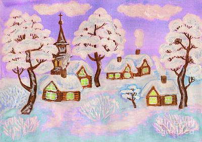 Painting - Winter Landscape, Painting by Irina Afonskaya