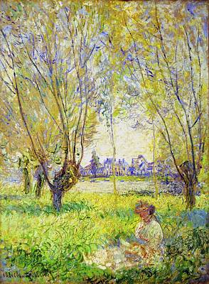 Painting - Woman Seated Under The Willows  by Claude Monet