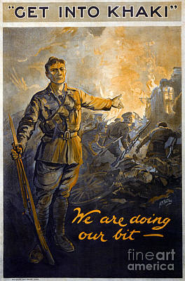 Drawing - World War I, Poster. by Granger