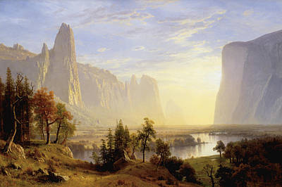 Yosemite Painting - Yosemite Valley by MotionAge Designs
