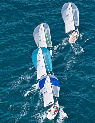 Photograph - Key West Race Week Aerial by Steven Lapkin