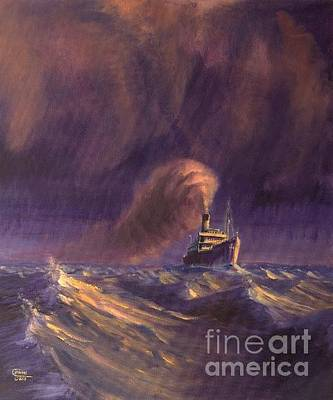 Tramp Steamer Painting - 8000 Miles From Home by Christopher