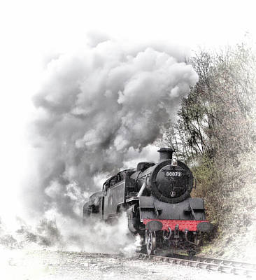Photograph - 80072 Steaming In The Rain by Andrew Munro