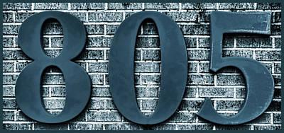 Photograph - 805 Blue Gray  Bricks  With Gray Border by Tony Grider
