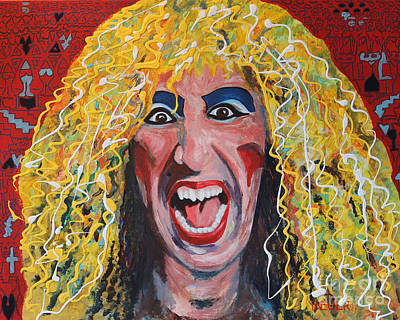 80s Hair Bands Twisted Sister Art Print by Robert Yaeger