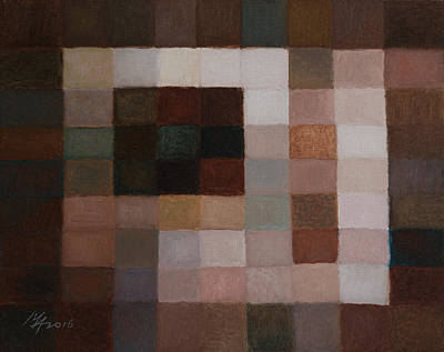 Painting - 81 Color Fields - Burnt Sienna by Attila Meszlenyi