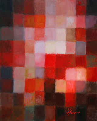 Painting - 81 Color Fields - Cadmium Red Light by Attila Meszlenyi