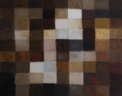 Painting - 81 Color Fields - Raw Umber by Attila Meszlenyi