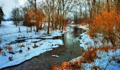 Water Painting - Landscape Nature Art by Margaret J Rocha