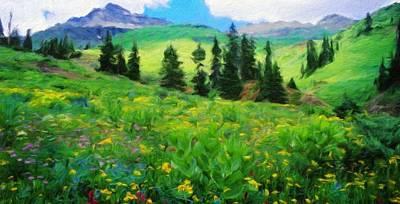 Nature Painting - Nature Landscape Art by Margaret J Rocha