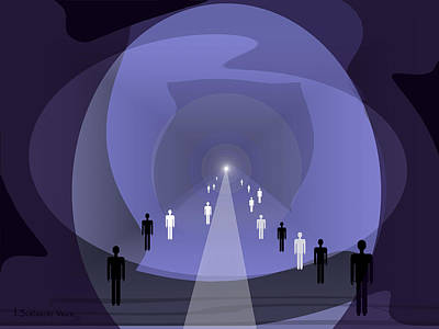 Twilight Zone Painting - 814 - Light At The End Of The Tunnel by Irmgard Schoendorf Welch