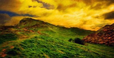 Sea Painting - Landscape Nature by Margaret J Rocha