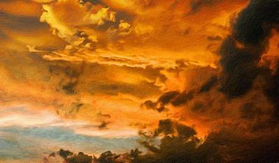 Nature Painting - Landscape On Nature by Margaret J Rocha