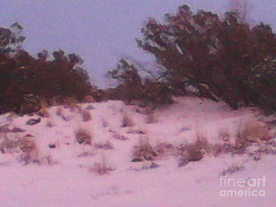 Outerspace Patenets Rights Managed Images - Snowy Desert Landscape Royalty-Free Image by Frederick Holiday