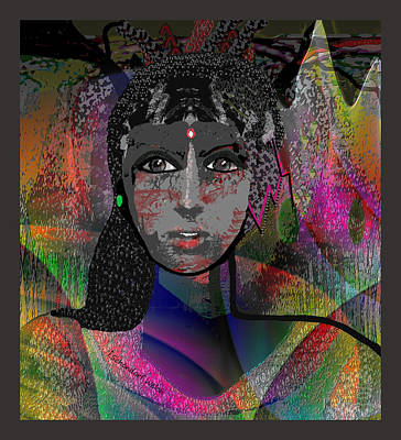 Digital Art - 823 - Rainbow Woman 2017 by Irmgard Schoendorf Welch