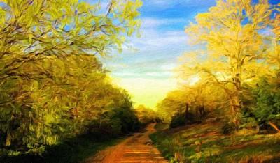 Sun Painting - A Landscape Nature by Margaret J Rocha