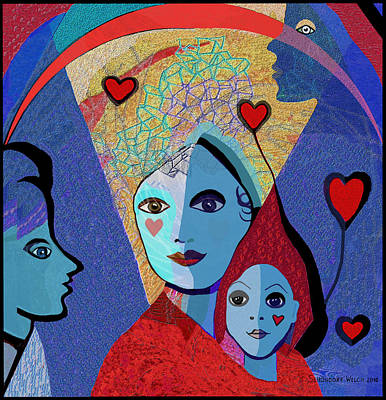 Painting - 834   Mighty Mother V by Irmgard Schoendorf Welch