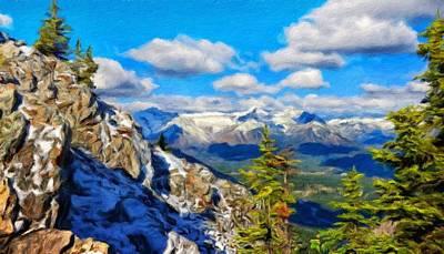 Bushes Painting - A Landscape Nature by Margaret J Rocha