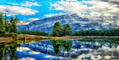 Nature Painting - Landscape Nature Drawing by Margaret J Rocha