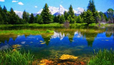 Sky Painting - Landscape Oil Painting Nature by Margaret J Rocha