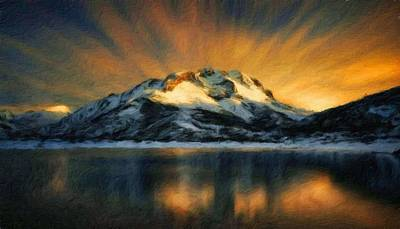 Fineartamerica Painting - Nature Landscape Illumination by Margaret J Rocha