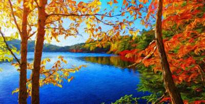 Tree Painting - Nature Scenery Oil Paintings On Canvas by Margaret J Rocha