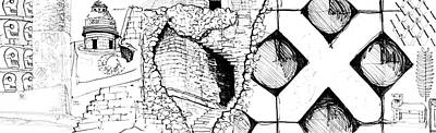 Drawing - 8.4.mexico-1-detail-c by Charlie Szoradi
