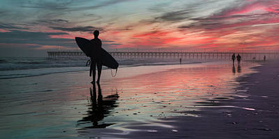 Brilliant Color Photograph - 84x42 Searching For A Perfect Wave  by Betsy Knapp