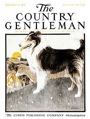 Cover Of Country Gentleman Agricultural Art Print by Remsberg Inc