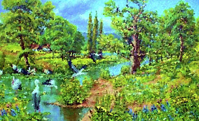 Nature Painting - Nature Landscape Nature by Edna Wallen