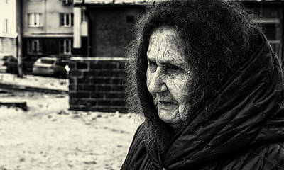 Photograph - 85 Year Old Russian Woman Street Portrait by John Williams
