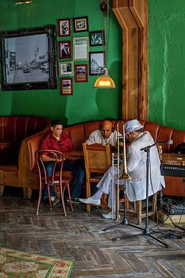 Musicians Royalty Free Images - 8520- Little Havana Musicians Royalty-Free Image by David Lange