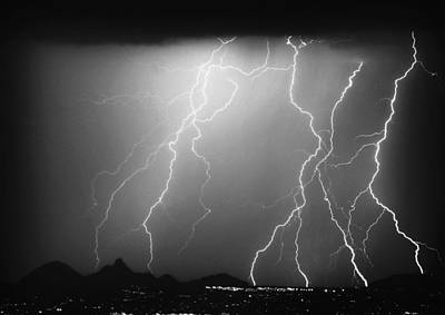 Lightning Photograph - 85255 Black And White by James BO  Insogna
