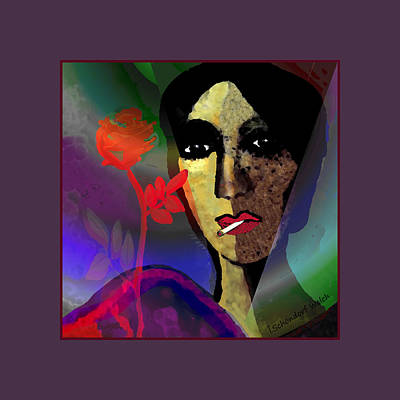 Digital Art - 859 - Smoking May Damage Your Beauty 2017 by Irmgard Schoendorf Welch