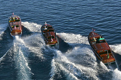 Priceless Photograph - Classic Wooden Runabouts by Steven Lapkin