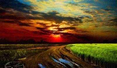 Cloud Painting - Landscape Nature Pictures by Margaret J Rocha