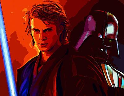 Star Wars Digital Art - Star Wars by Elena Kosvincheva