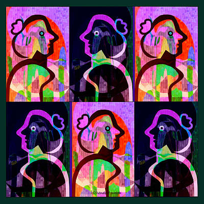 Painting - 860 - Lola Pop 1 - 2017 by Irmgard Schoendorf Welch