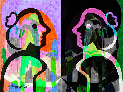 Digital Art - 861 - Pop - 2017 by Irmgard Schoendorf Welch