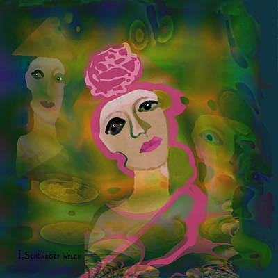 864 - La Rose Art Print by Irmgard Schoendorf Welch