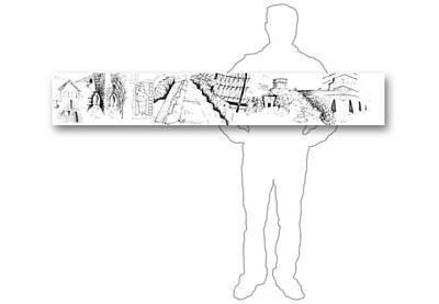 Drawing - 8.6.mexico-2-horizontal-with-figure by Charlie Szoradi