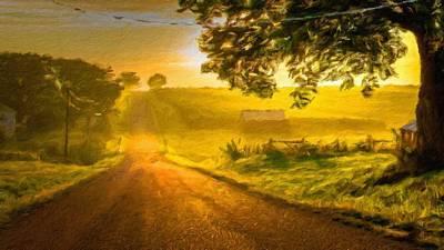 Tree Digital Art - Landscape Paintings by Landscape Art