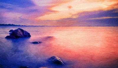 Bushes Painting - Nature Landscape Paintings by Margaret J Rocha