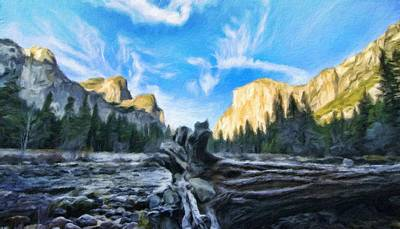 Spring Painting - Nature Painted Landscape by Margaret J Rocha