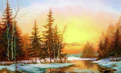 Green Painting - Nature Landscape Nature by Edna Wallen