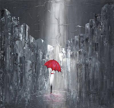Painting - #888 All Alone by Linda Skibinsky