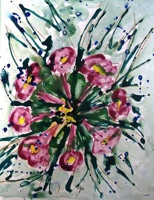 Divine Flowers Art Print by Baljit Chadha