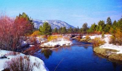 Lake Painting - Nature Oil Canvas Landscape by Margaret J Rocha
