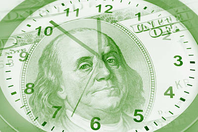 Financial Digital Art - Time Is Money  by Les Cunliffe