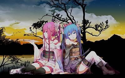 Color Digital Art - Vocaloid by Super Lovely